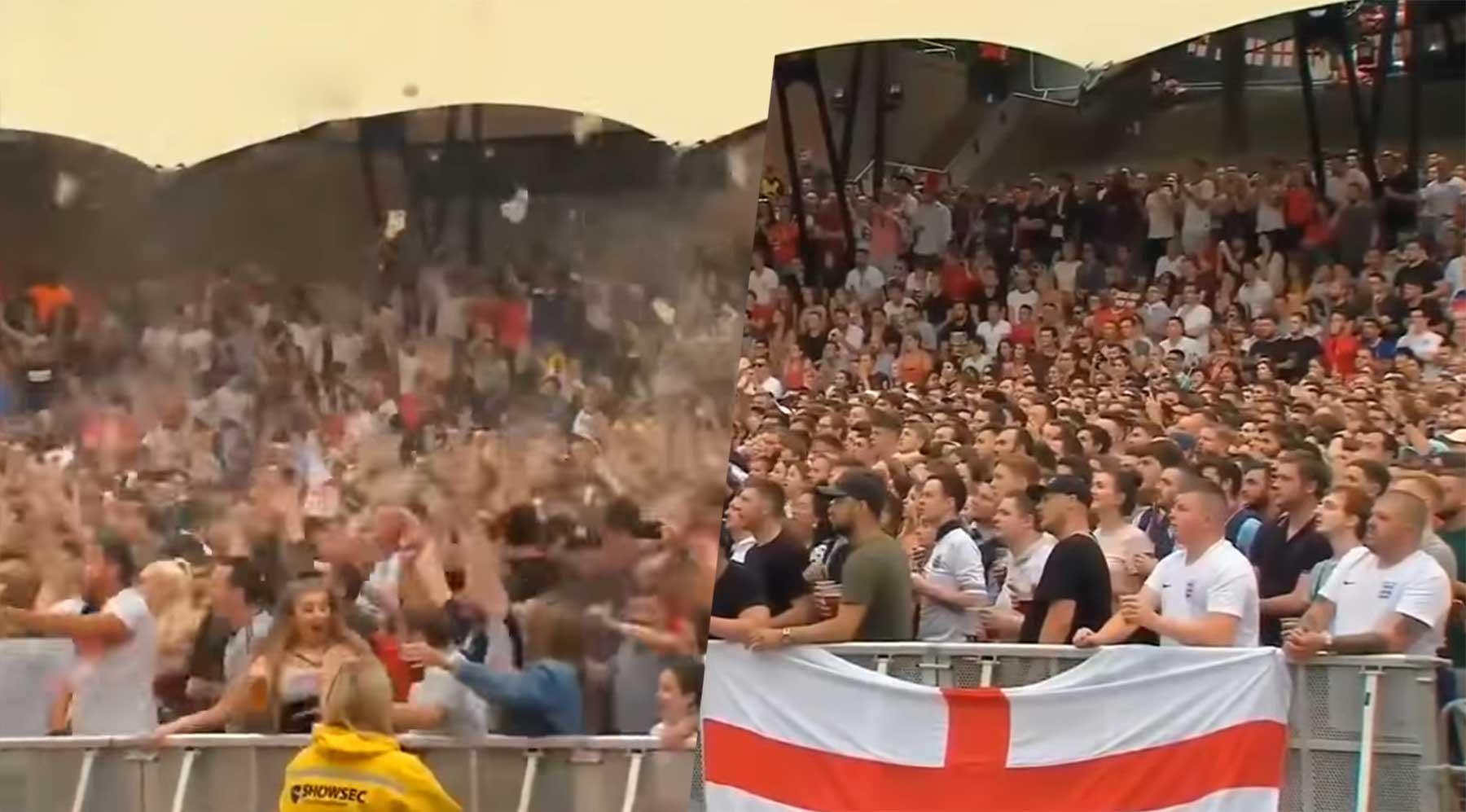 Fan-Ausraster nach England-Tor rückwärts abgespielt