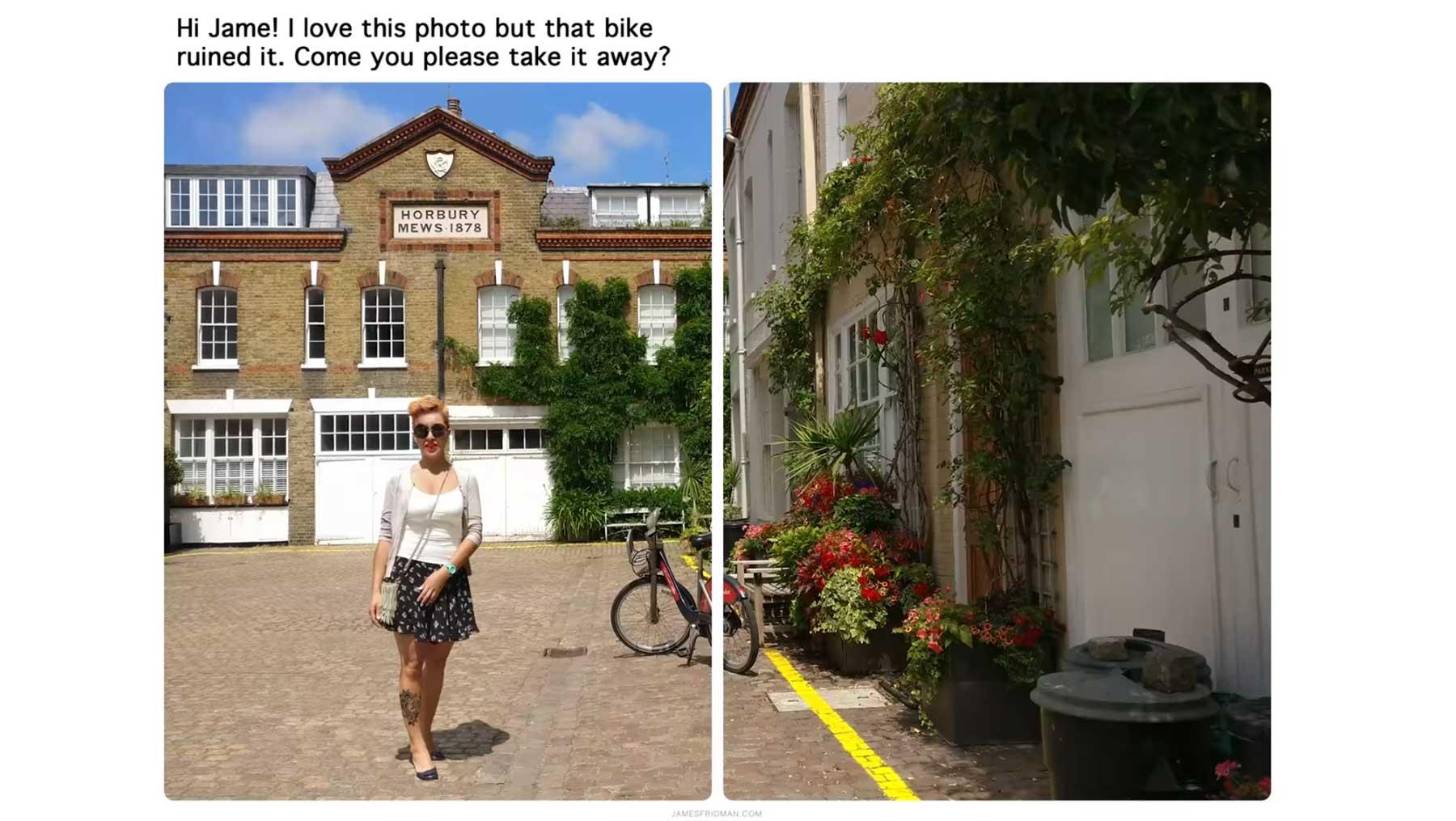 Kannst du bitte das Fahrrad aus dem Bild nehmen? fahrrad-aus-bild-retuschieren