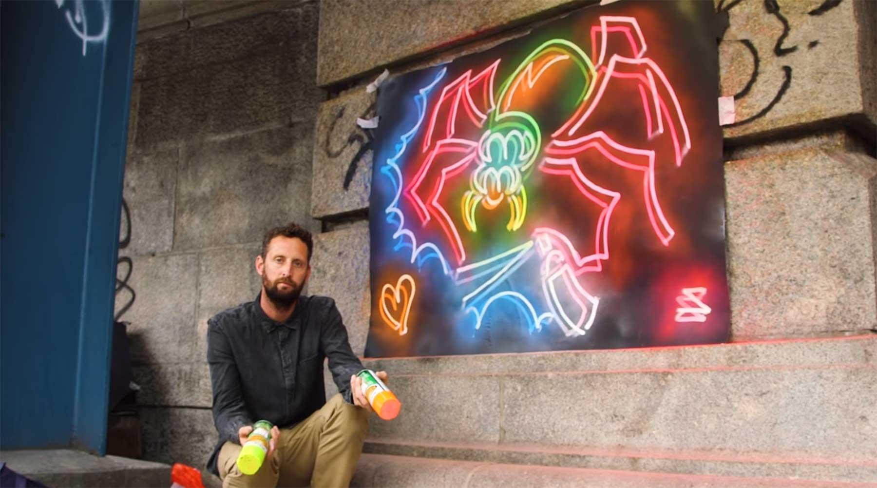Wie Straker seine Neon-Street Art erstellt