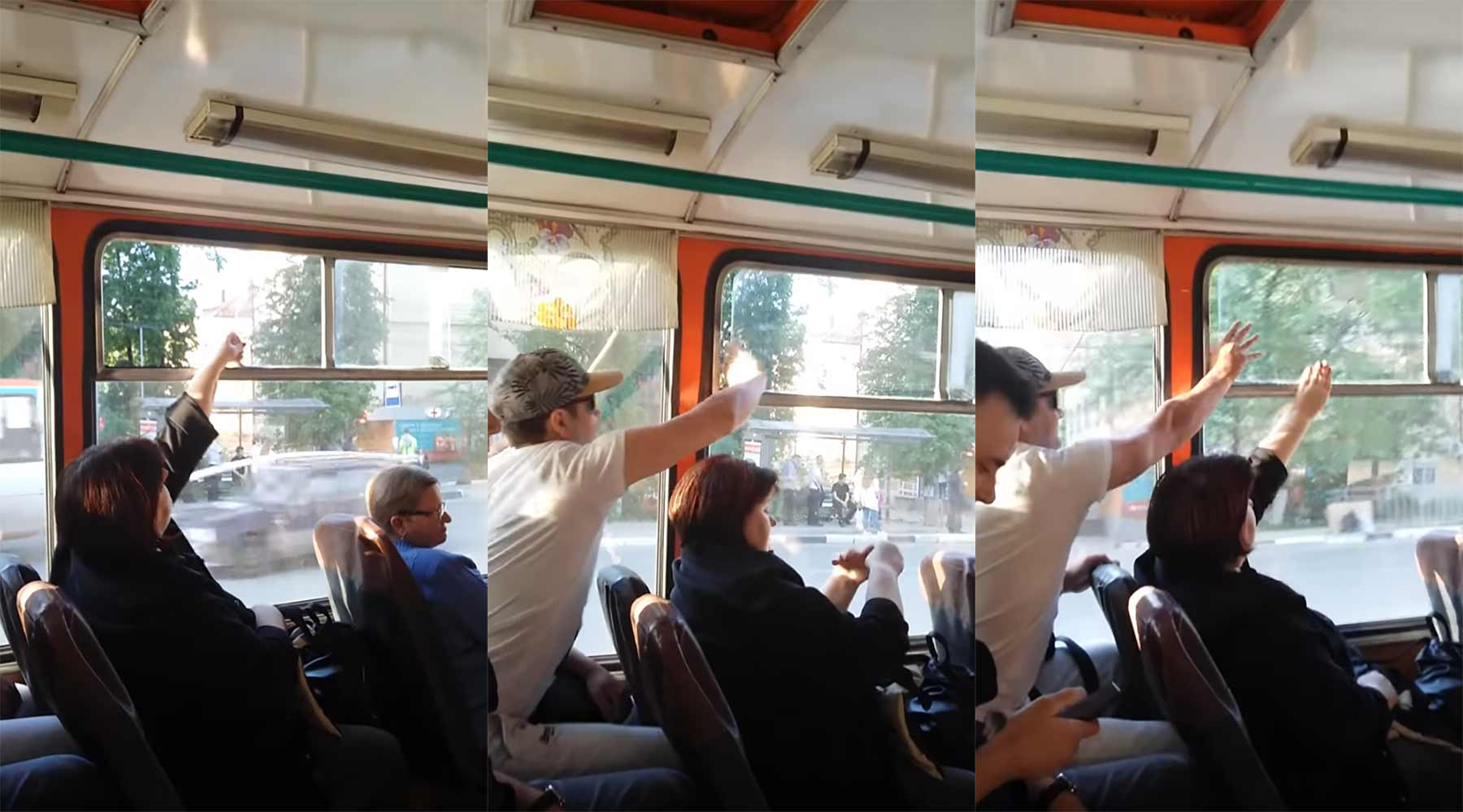 Stummer Streit ums Busfenster: Offen oder zu?!