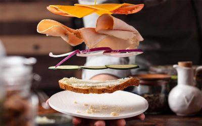 Wie man ein zusammenfliegendes Sandwich fotografiert