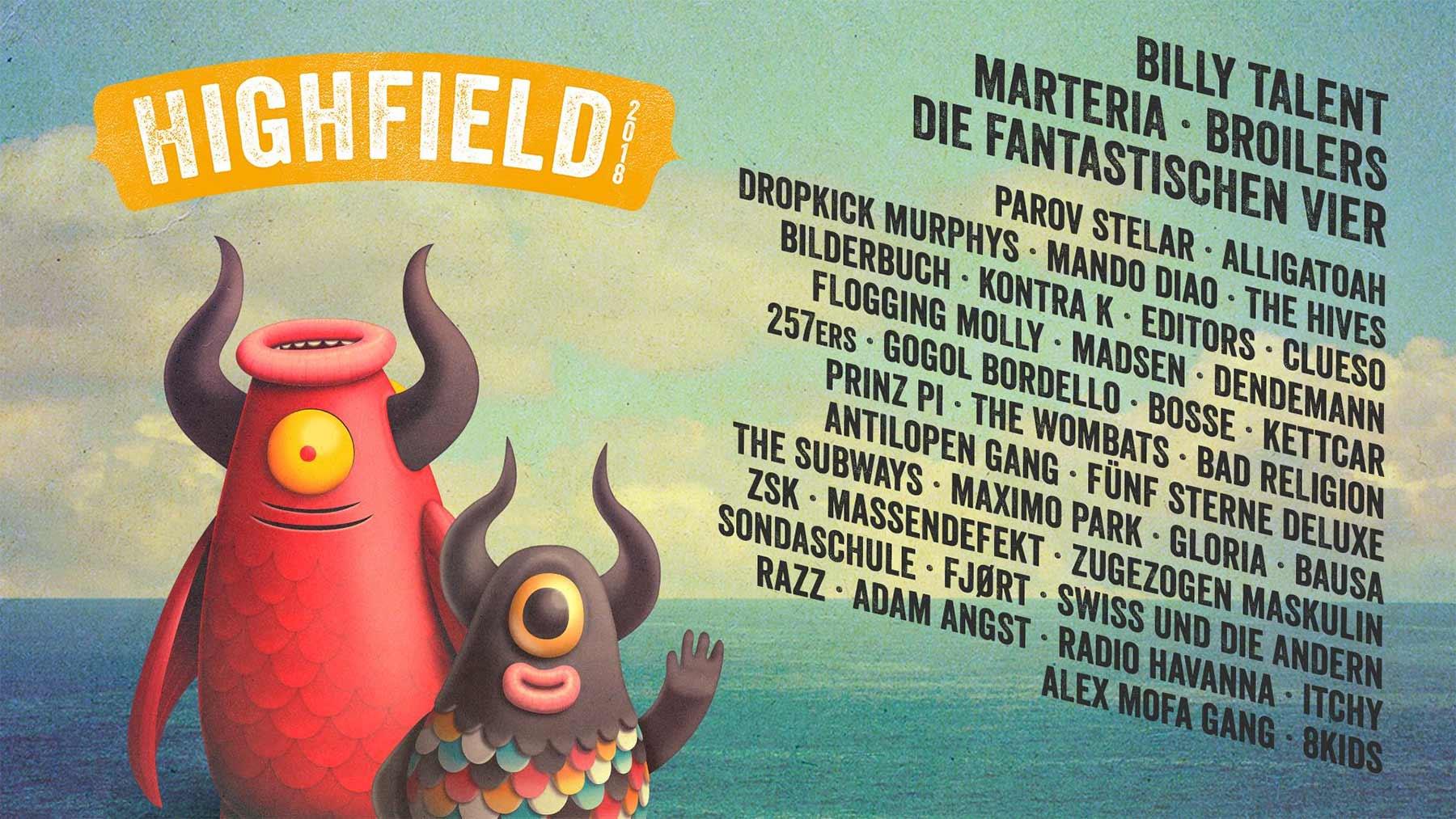 Es gibt noch (Tages)Tickets für das Highfield Festival 2018