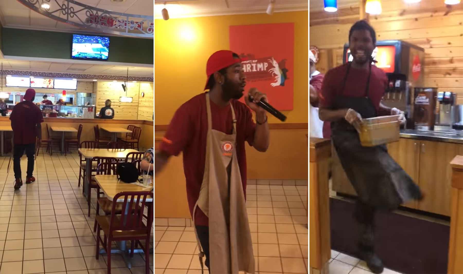 Dieser Typ kündigt seinen Fast Food-Job mit einem Rap-Song
