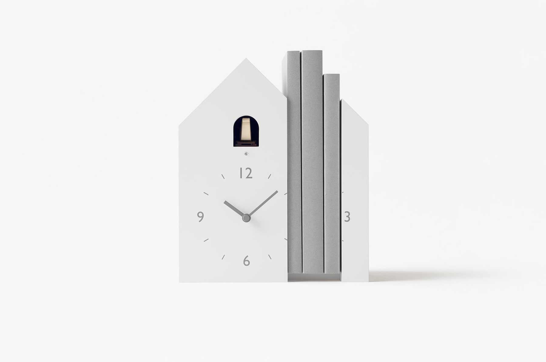 Modern-minimalistische Kuckucksuhren von Nendo nendo-minimalistische-kuckucksuhren_04
