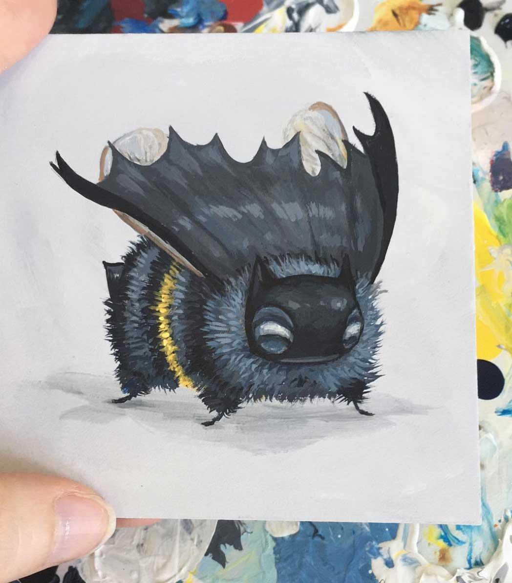 Als Bienen gemalte Popkulturfiguren popkulturbienen-von-Camilla-dErrico_03