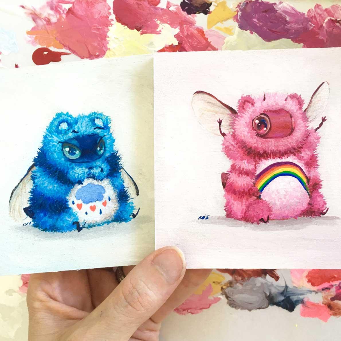 Als Bienen gemalte Popkulturfiguren popkulturbienen-von-Camilla-dErrico_04