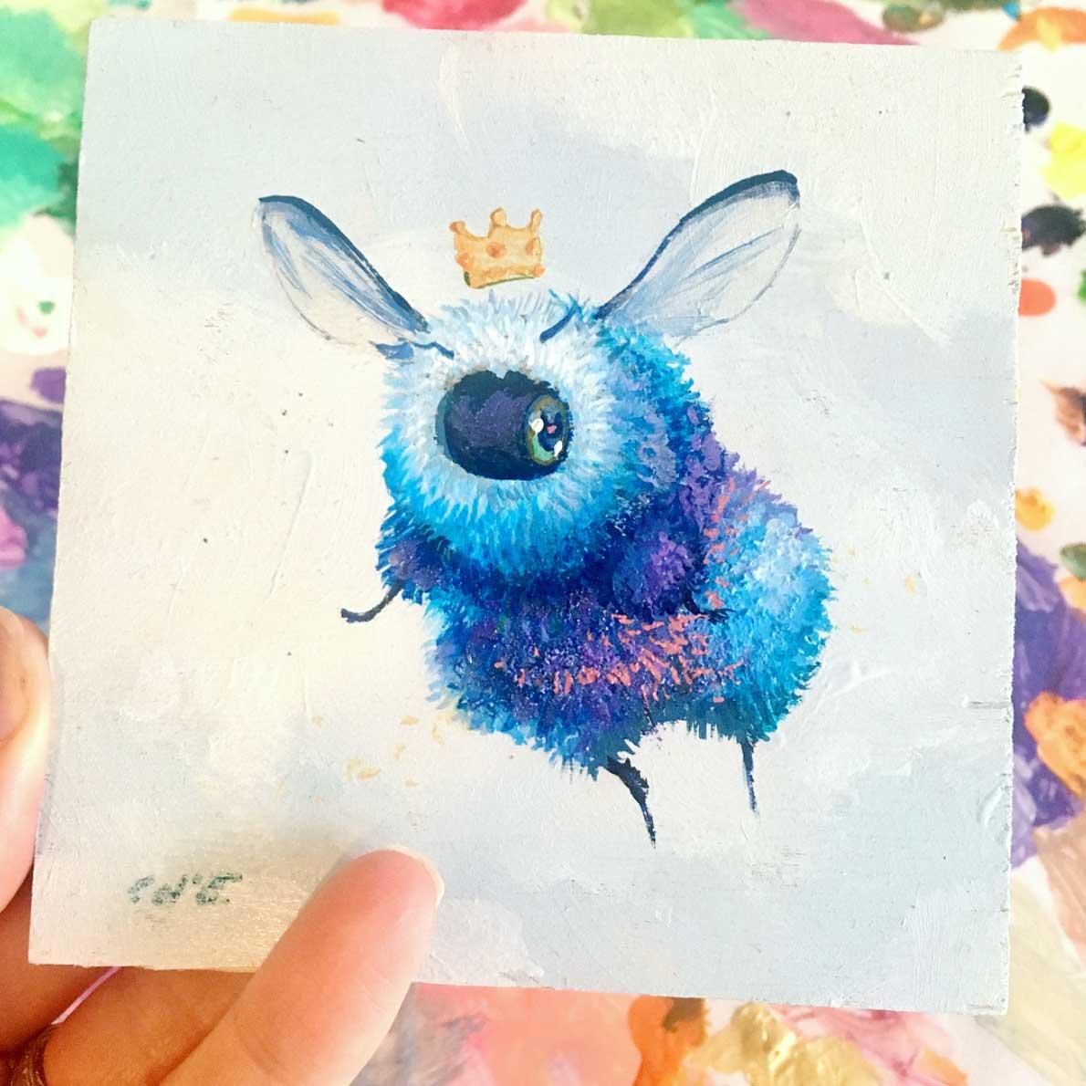 Als Bienen gemalte Popkulturfiguren popkulturbienen-von-Camilla-dErrico_06