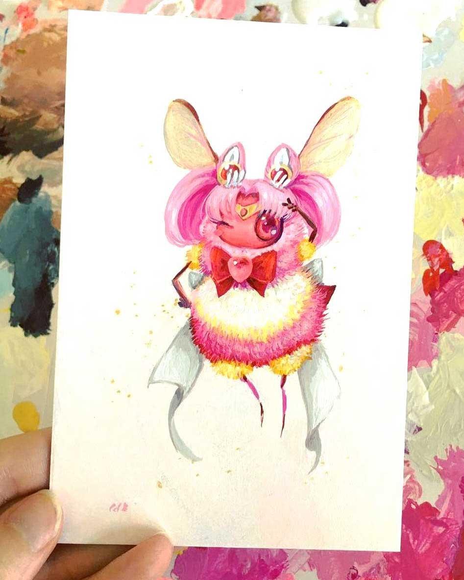Als Bienen gemalte Popkulturfiguren popkulturbienen-von-Camilla-dErrico_10