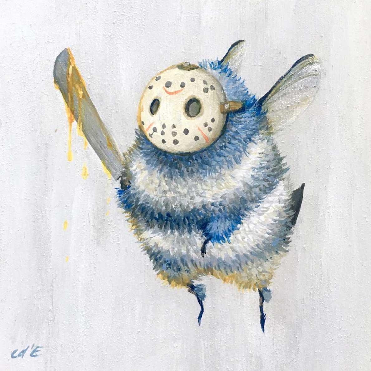 Als Bienen gemalte Popkulturfiguren popkulturbienen-von-Camilla-dErrico_11