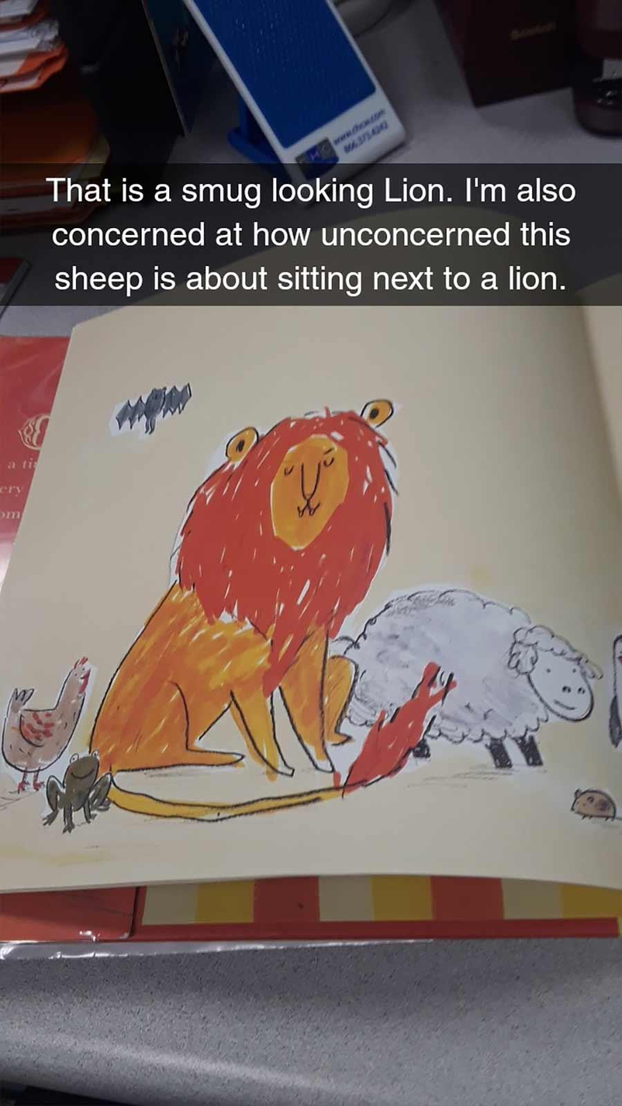 Erwachsene rezensiert Kinderbuch auf erfrischende Art A-Hungry-Lion-or-A-Dwindling-Assortment-of-Animals_03