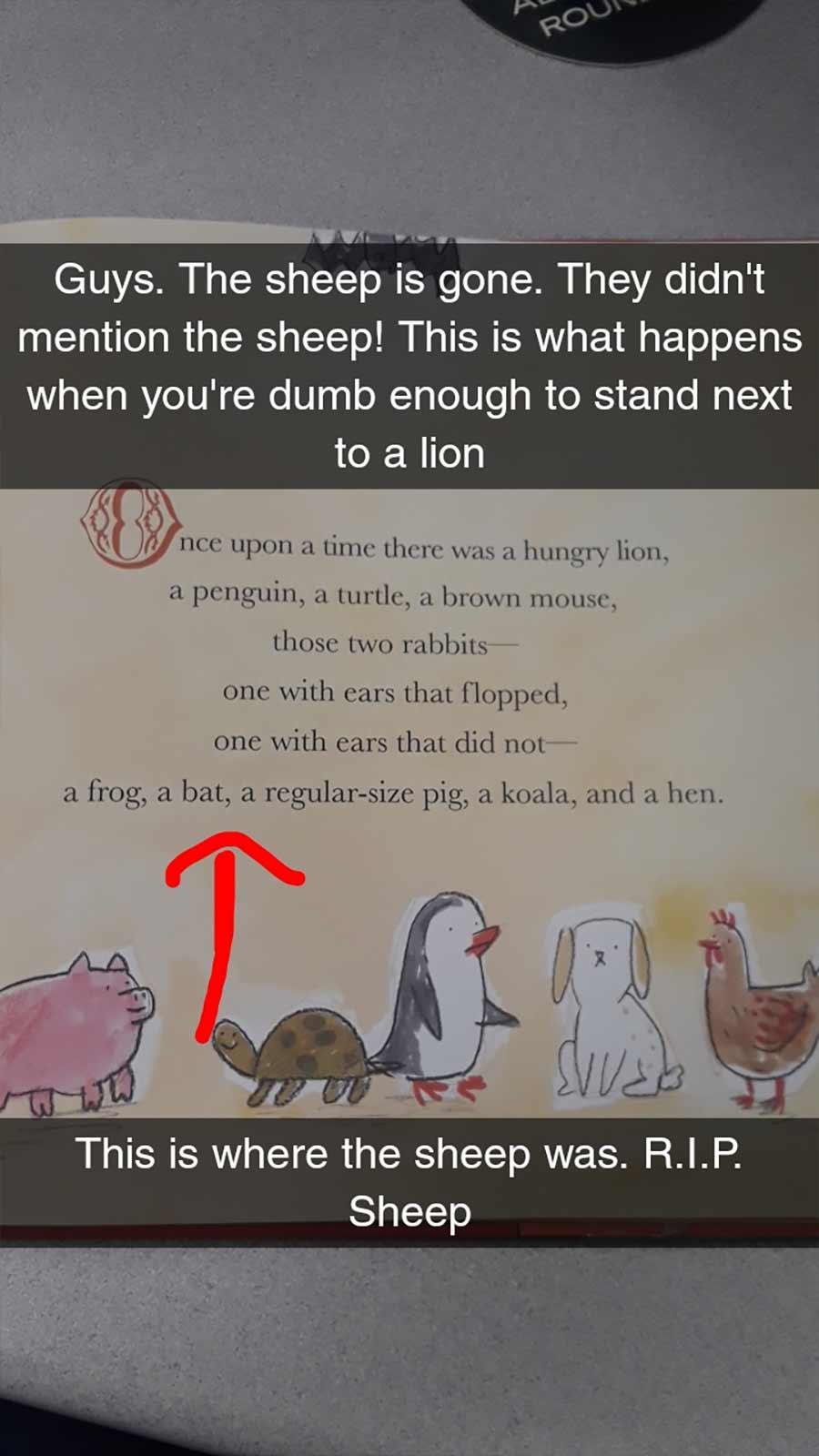 Erwachsene rezensiert Kinderbuch auf erfrischende Art A-Hungry-Lion-or-A-Dwindling-Assortment-of-Animals_05