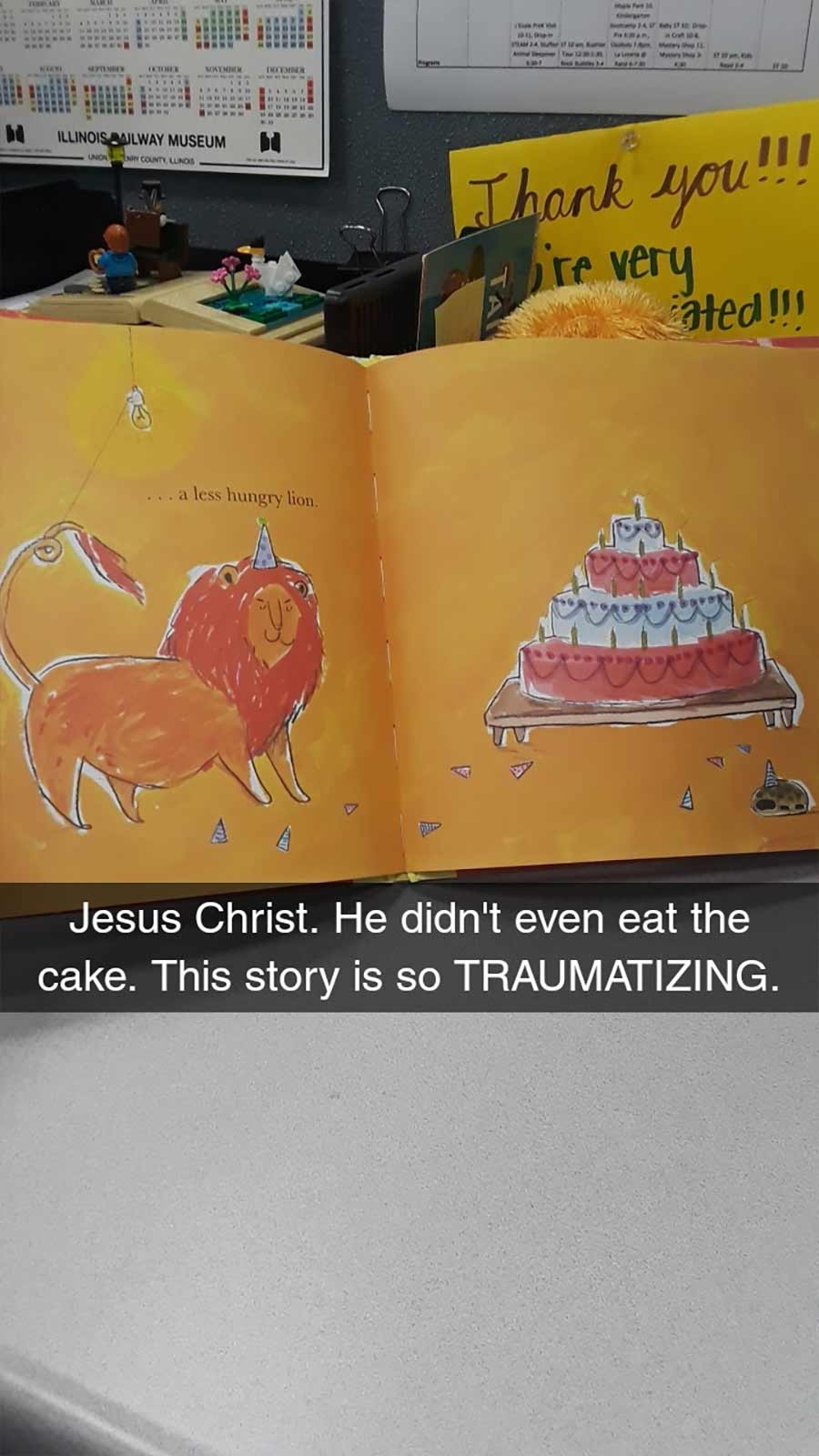 Erwachsene rezensiert Kinderbuch auf erfrischende Art A-Hungry-Lion-or-A-Dwindling-Assortment-of-Animals_16
