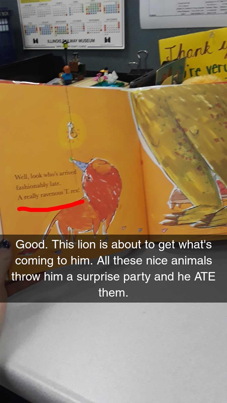 Erwachsene rezensiert Kinderbuch auf erfrischende Art A-Hungry-Lion-or-A-Dwindling-Assortment-of-Animals_17