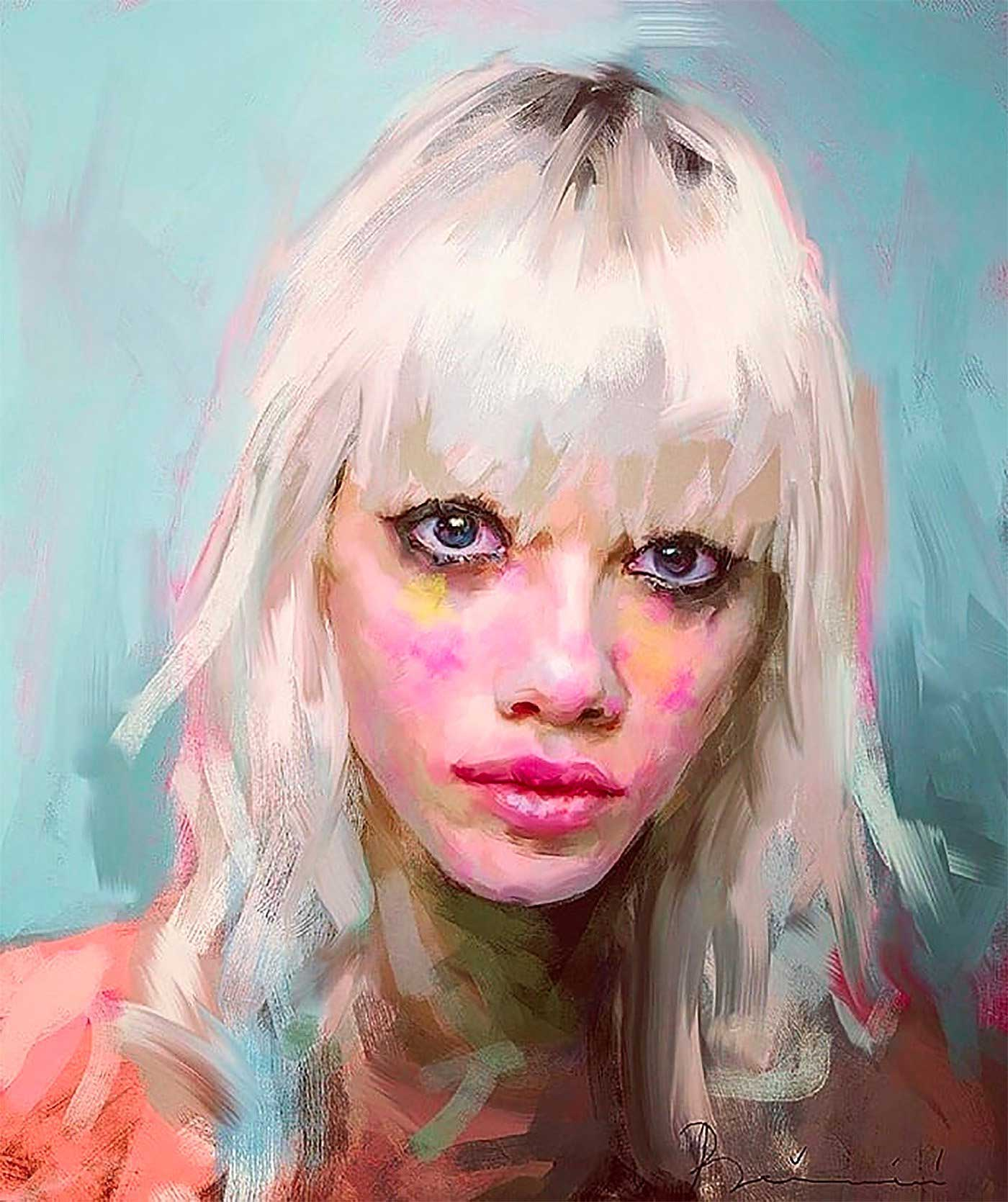 Neue Digital Paintings von Ivana Besevic Ivana-Besevic-digital-paintings-portraits-2018_02