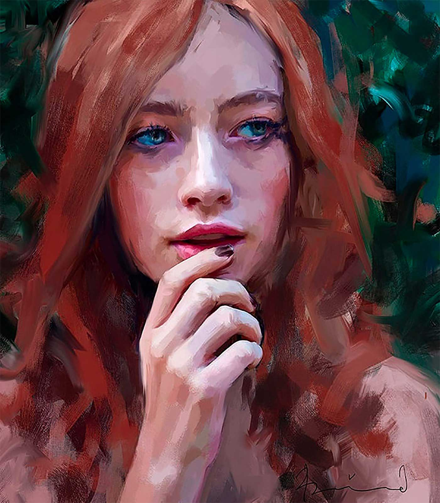 Neue Digital Paintings von Ivana Besevic Ivana-Besevic-digital-paintings-portraits-2018_03