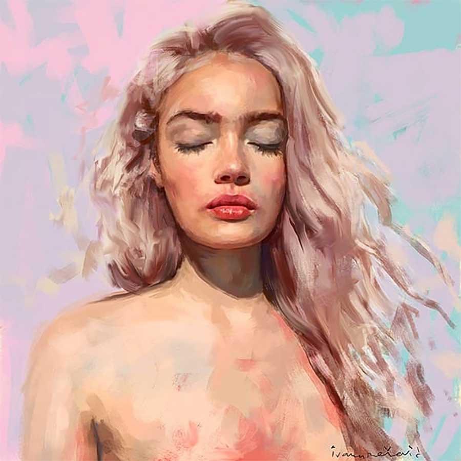 Neue Digital Paintings von Ivana Besevic Ivana-Besevic-digital-paintings-portraits-2018_07