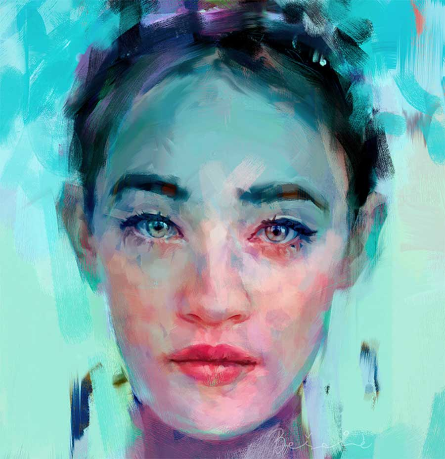 Neue Digital Paintings von Ivana Besevic Ivana-Besevic-digital-paintings-portraits-2018_08