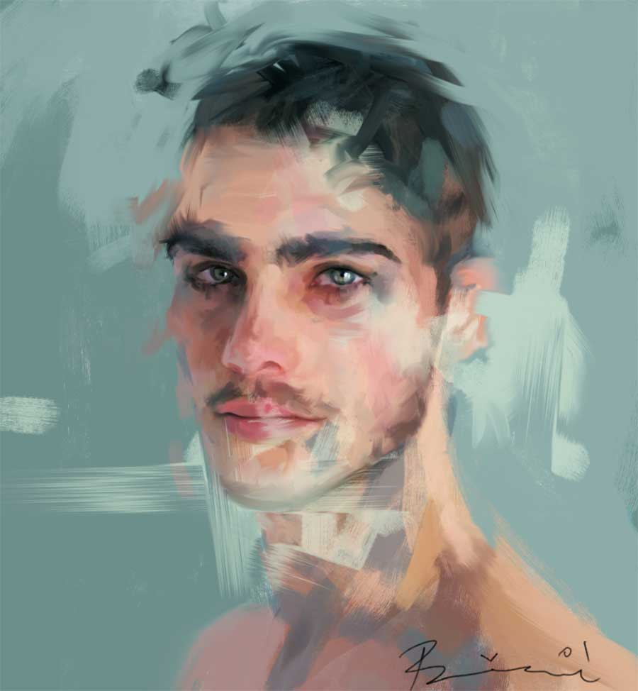 Neue Digital Paintings von Ivana Besevic Ivana-Besevic-digital-paintings-portraits-2018_10
