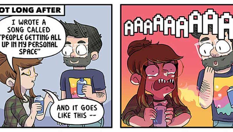 Webcomics über süße Alltagsmomente einer Beziehung
