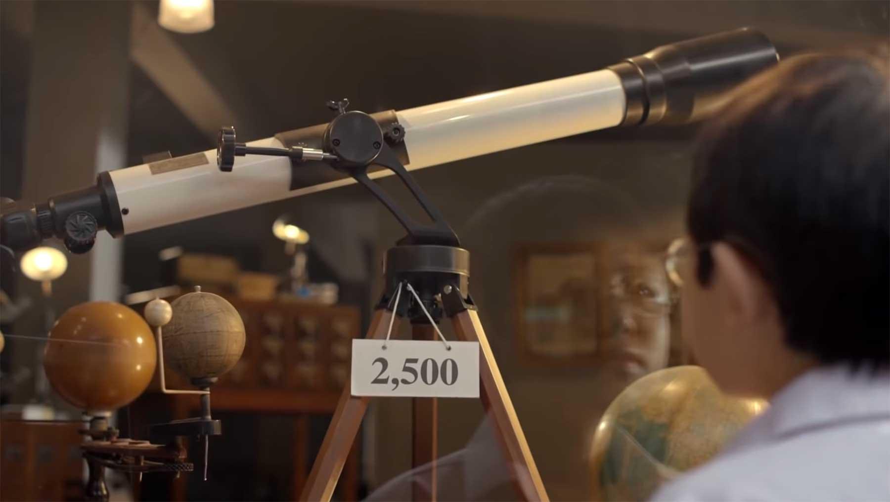 Der kleine Junge und das Teleskop Thai-Ads-The-Dream