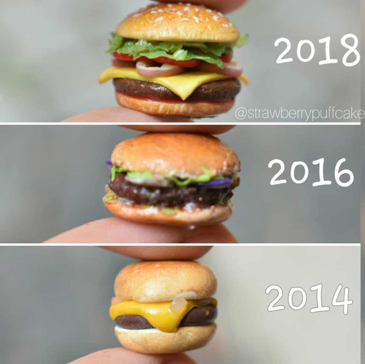 Die Evolution der Miniatur-Skulpturen von ZoZo ZoZO-strawberrypuffcake_02