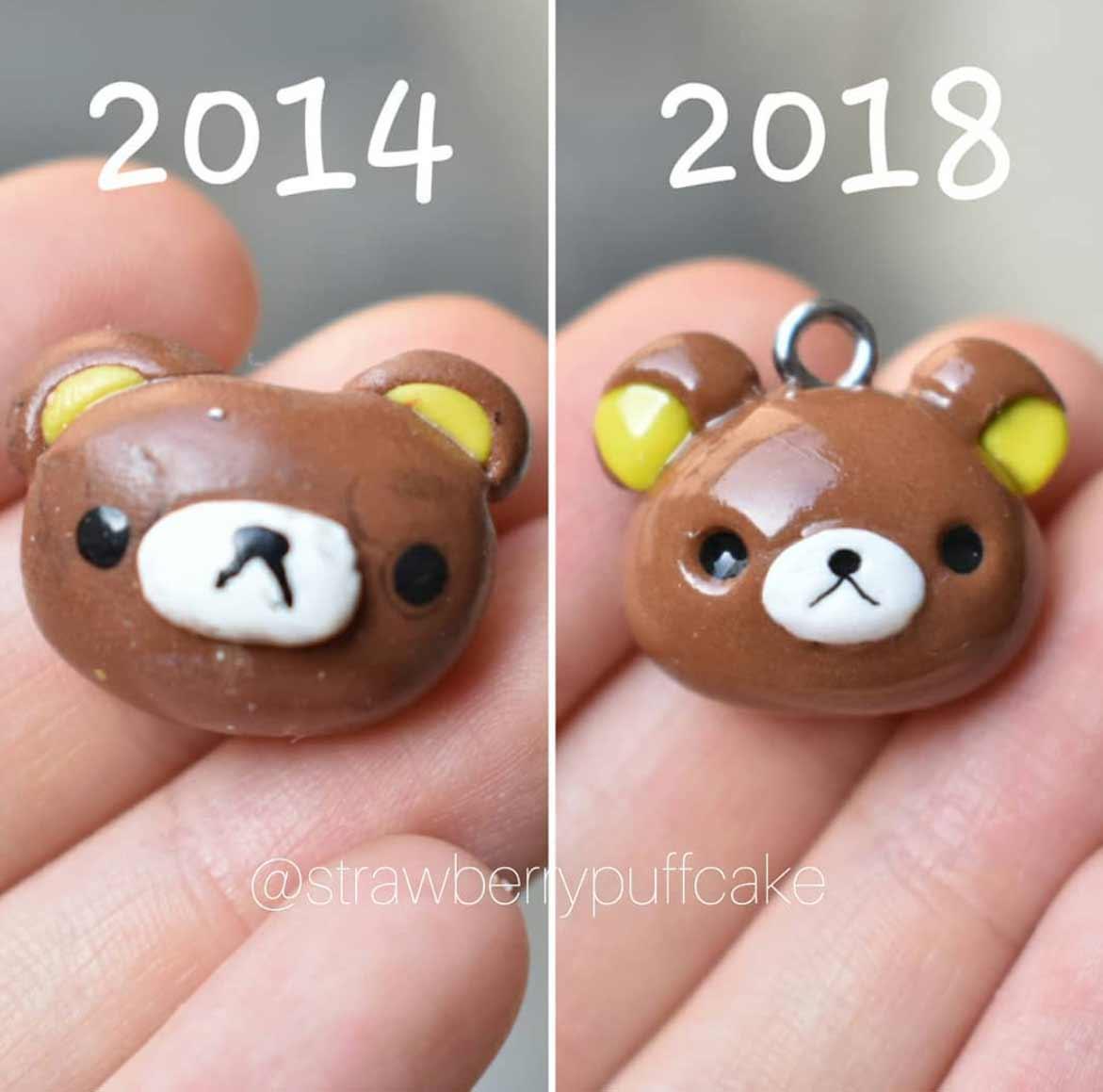 Die Evolution der Miniatur-Skulpturen von ZoZo ZoZO-strawberrypuffcake_04