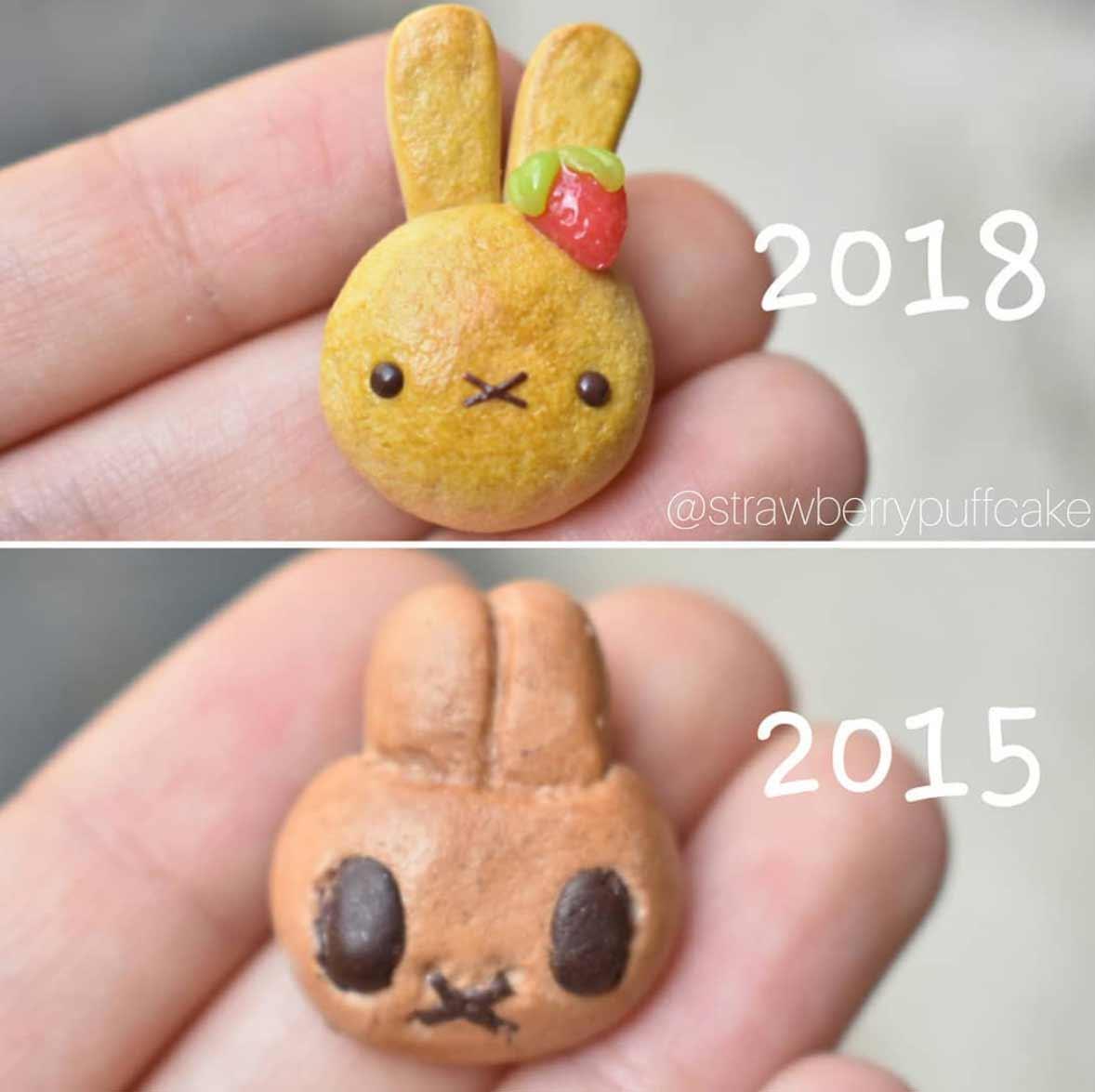 Die Evolution der Miniatur-Skulpturen von ZoZo ZoZO-strawberrypuffcake_05