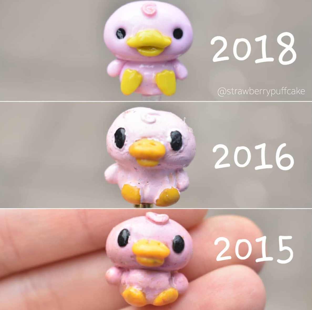 Die Evolution der Miniatur-Skulpturen von ZoZo ZoZO-strawberrypuffcake_06