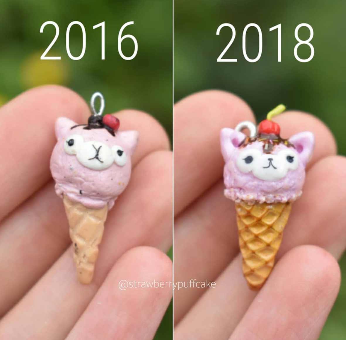 Die Evolution der Miniatur-Skulpturen von ZoZo ZoZO-strawberrypuffcake_07