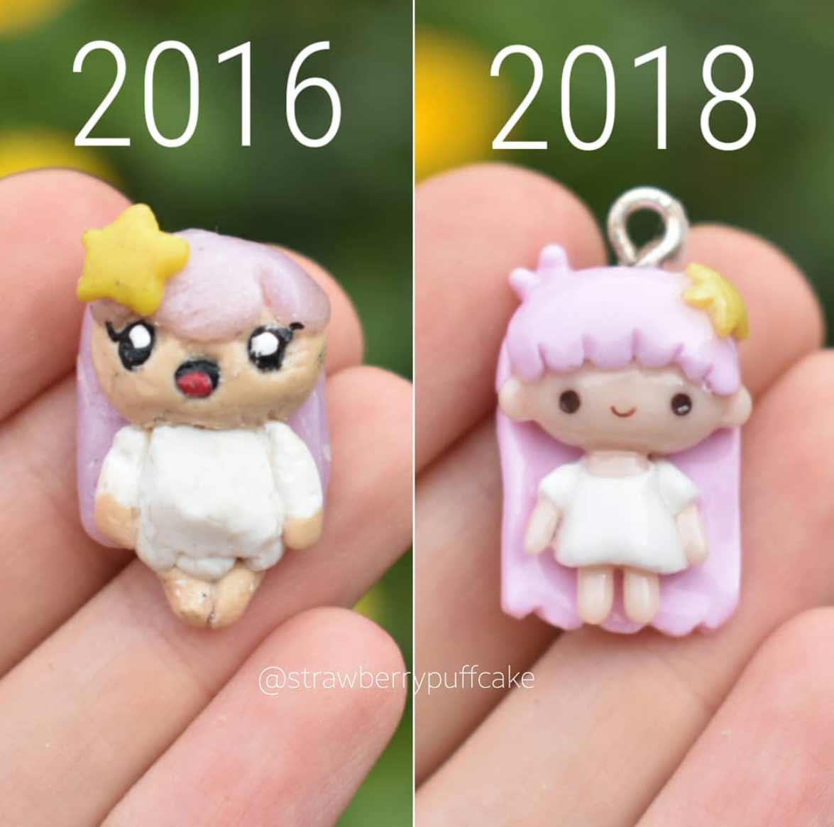 Die Evolution der Miniatur-Skulpturen von ZoZo ZoZO-strawberrypuffcake_08