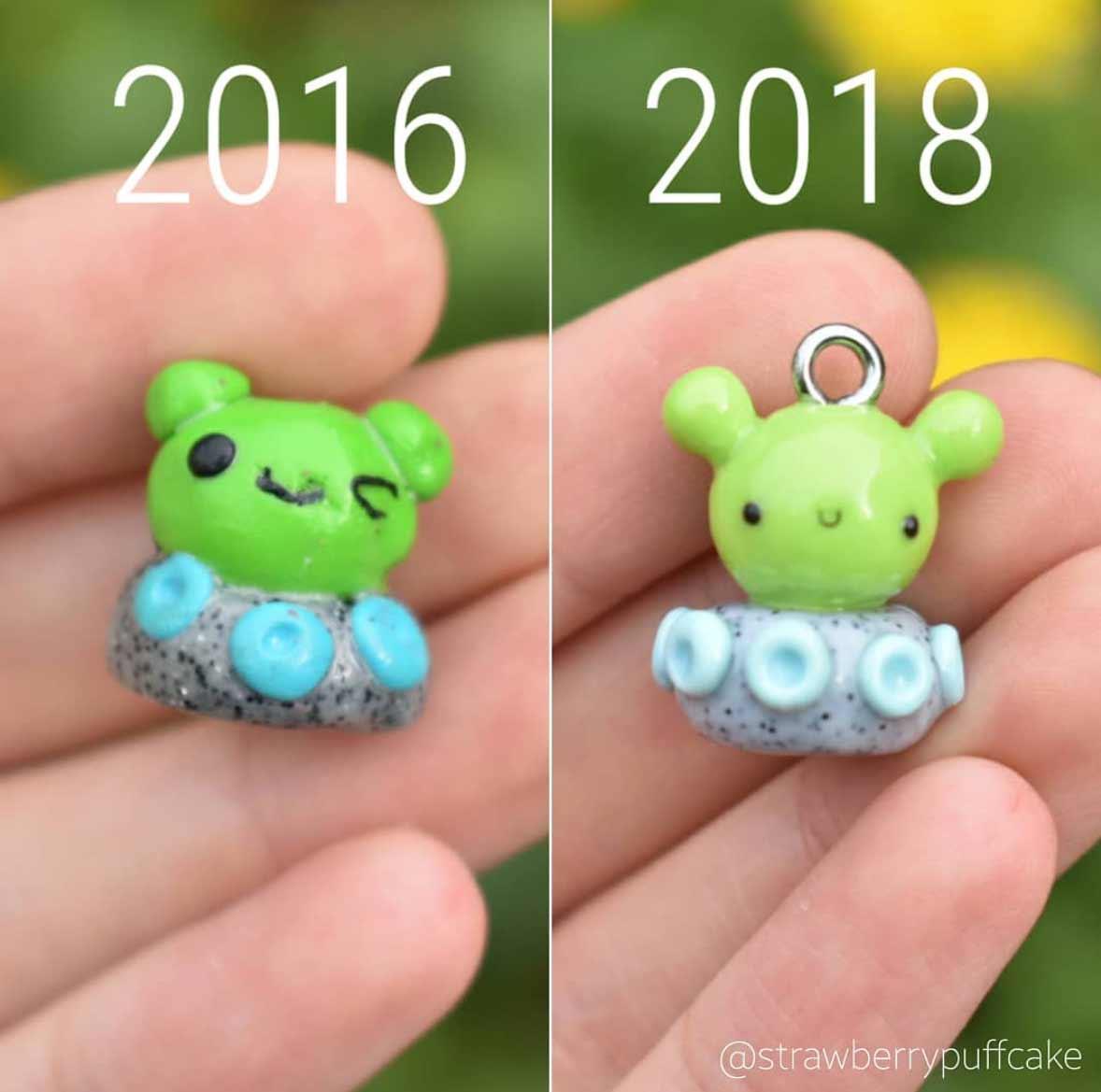 Die Evolution der Miniatur-Skulpturen von ZoZo ZoZO-strawberrypuffcake_09