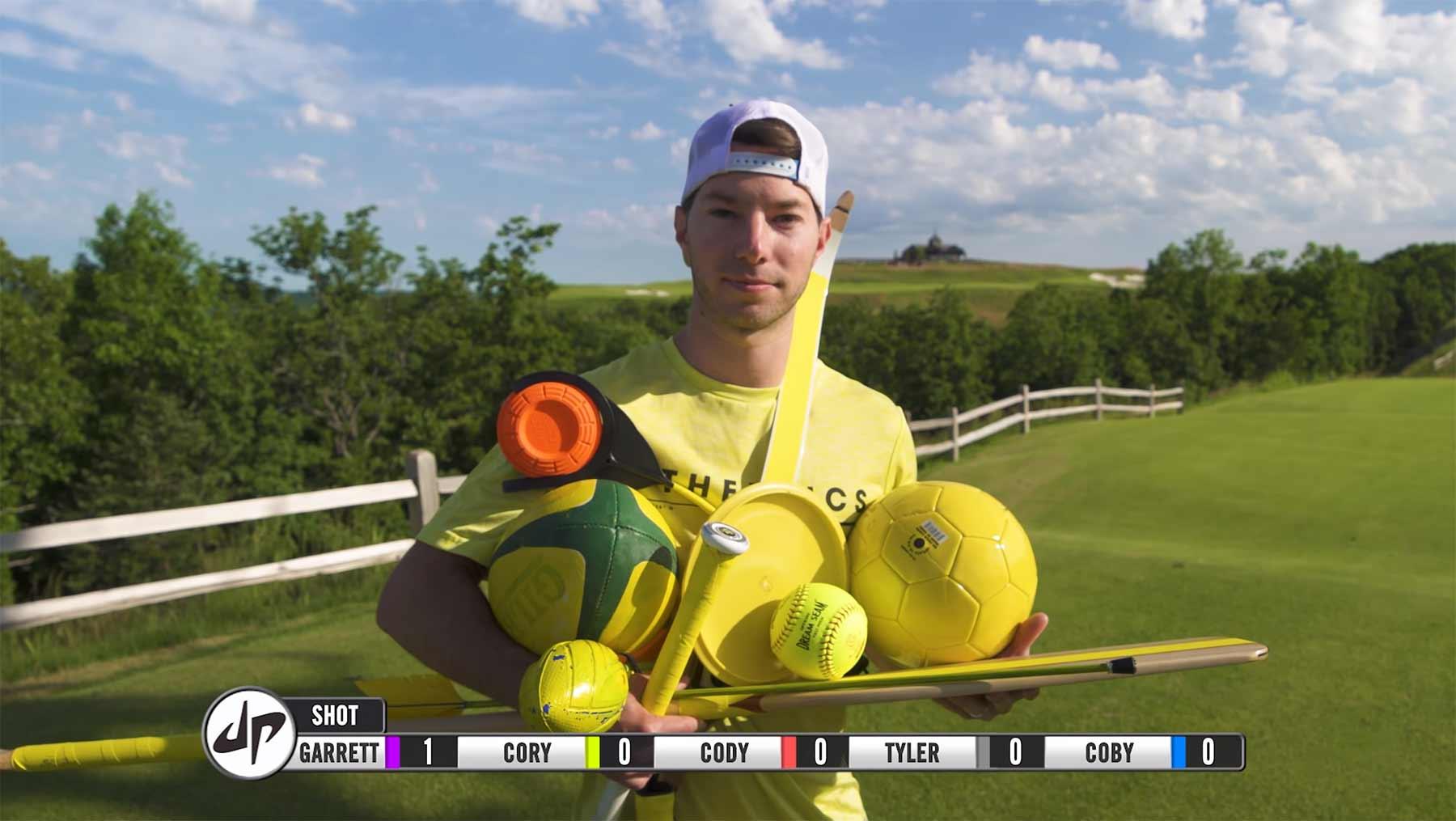 Golf mit allem, außer Golfschlägern