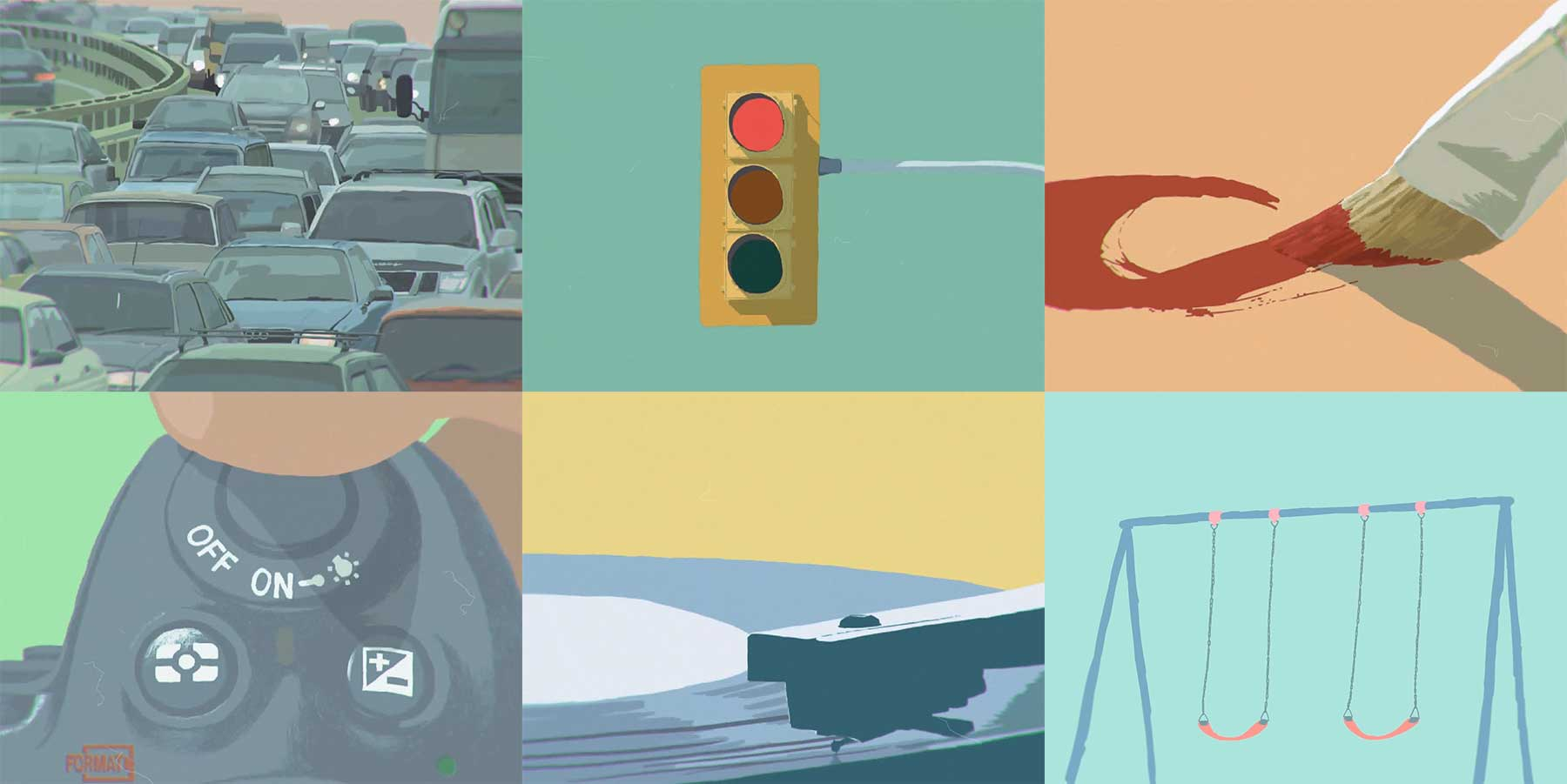 Abstrakt animierter Kurzfilm: Signal
