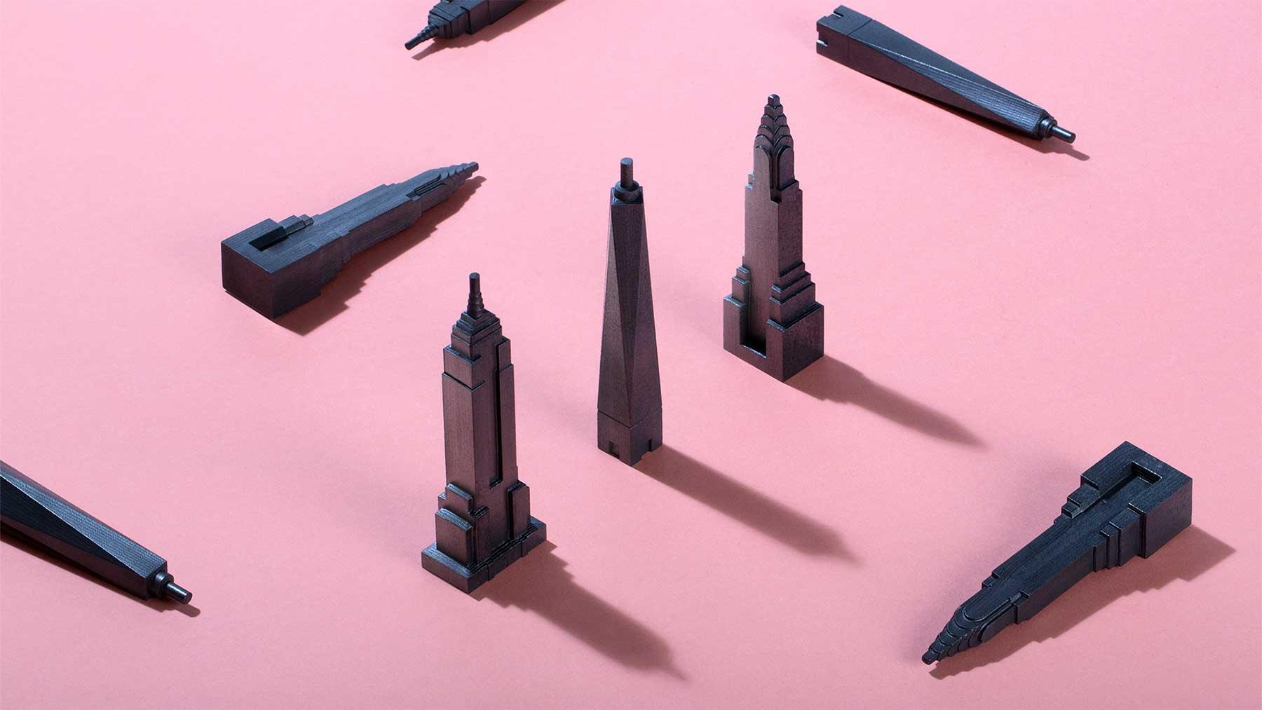 Wolkenkratzer-Bleistifte
