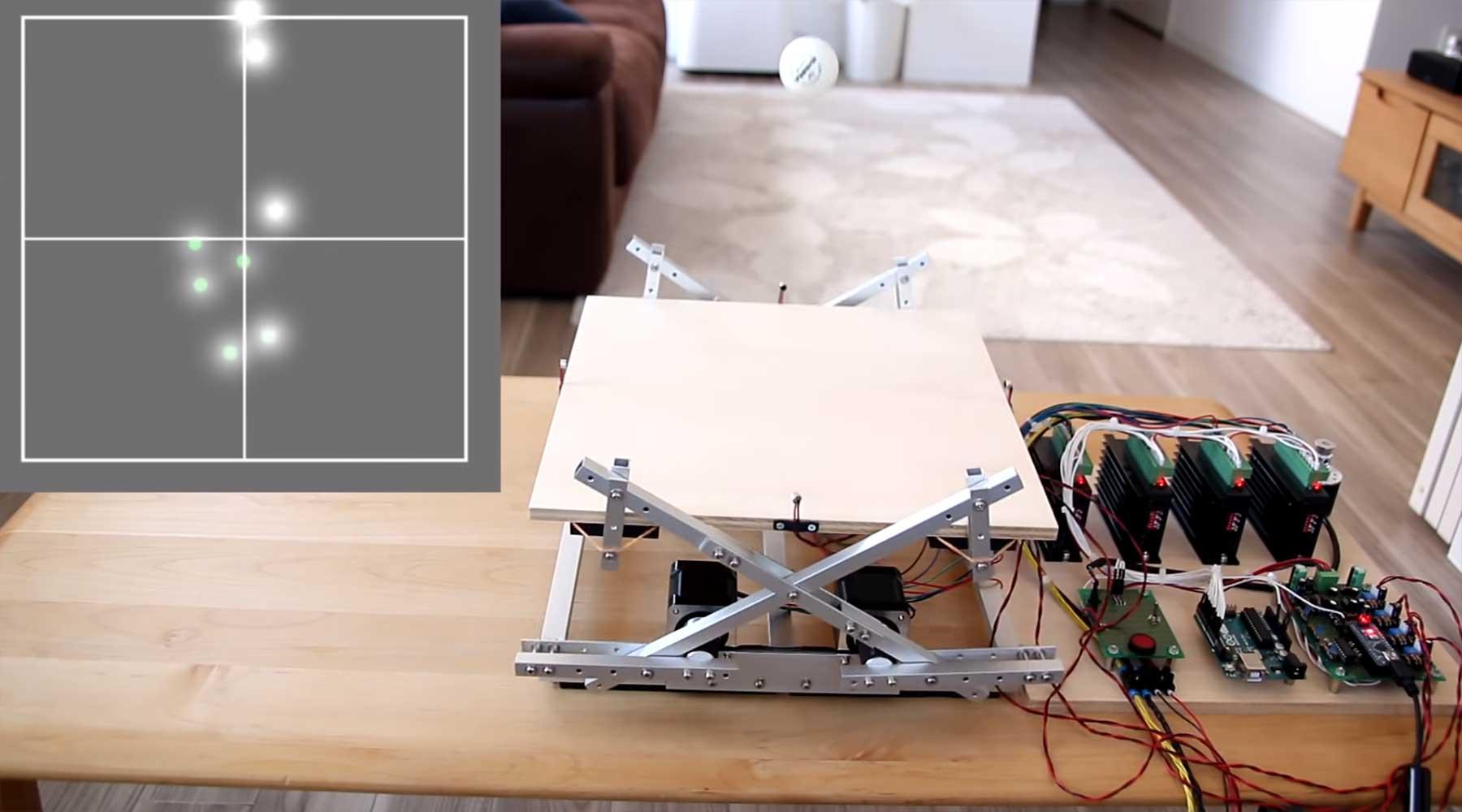 Dieser Roboter kann einen Tischtennisball in der Luft halten