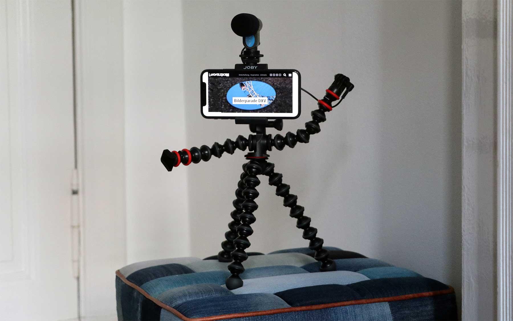 Gewappnet fürs Unterwegs-Filmen mit JOBYs GorillaPod Mobile Rig