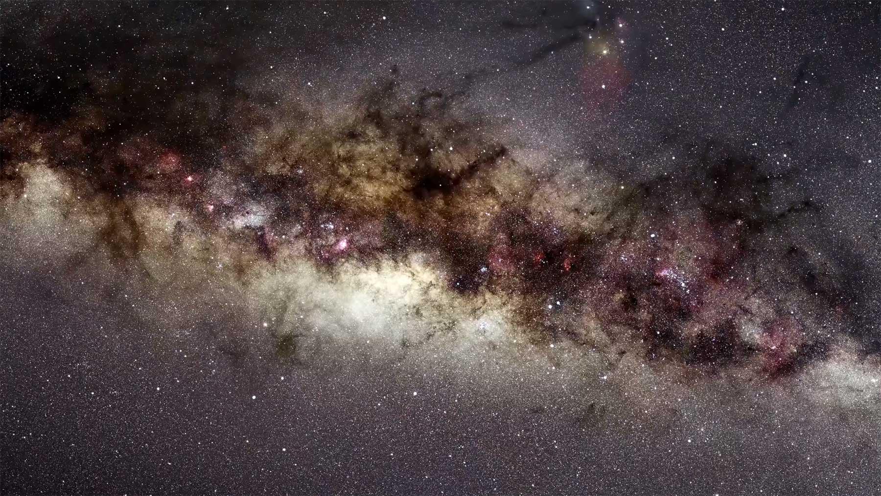 Ein 26-jähriger Zoom in die Milchstraße