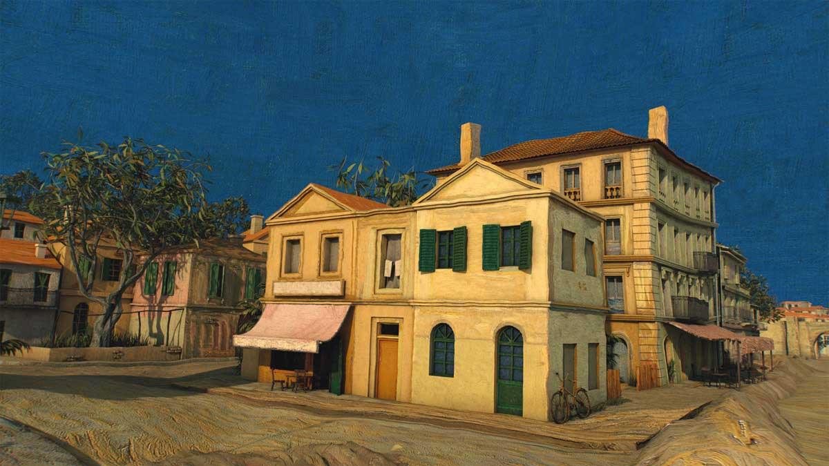 Durch ein Gemälde von Van Gogh fliegen