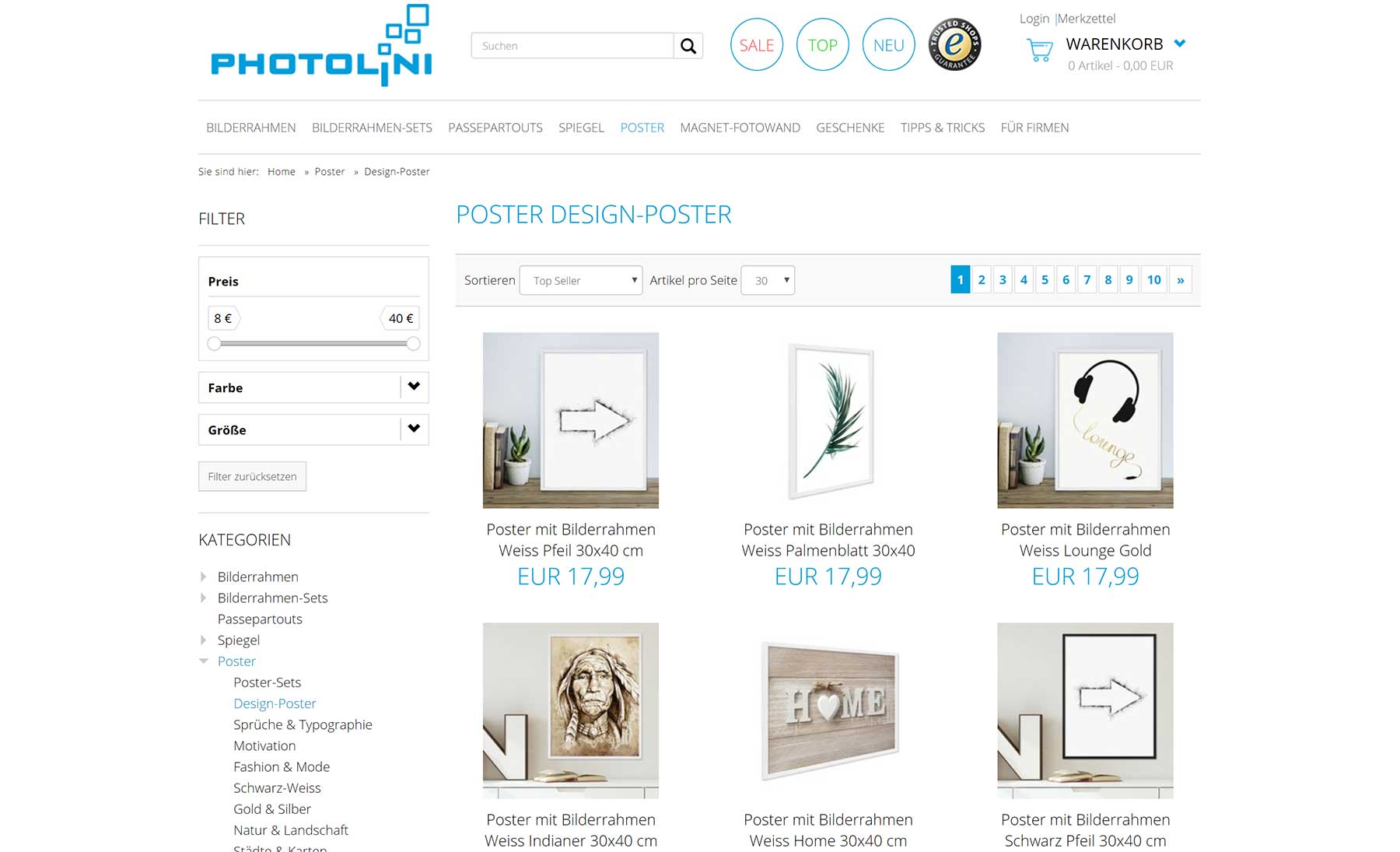 Design-Poster mit Rahmen von Photolini Photolini-Test_17