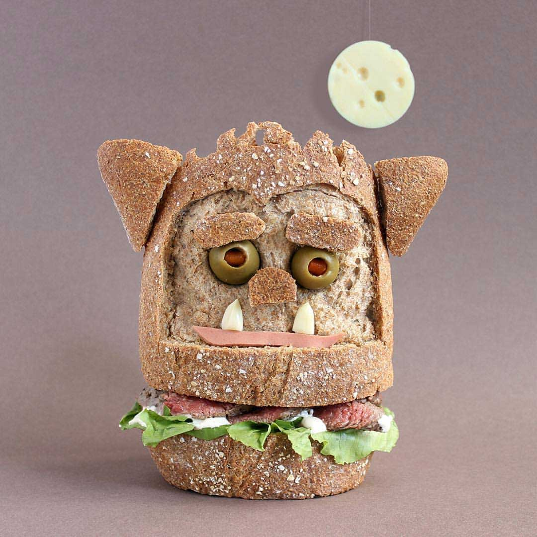 Sandwich Monster von Kasia Haupt