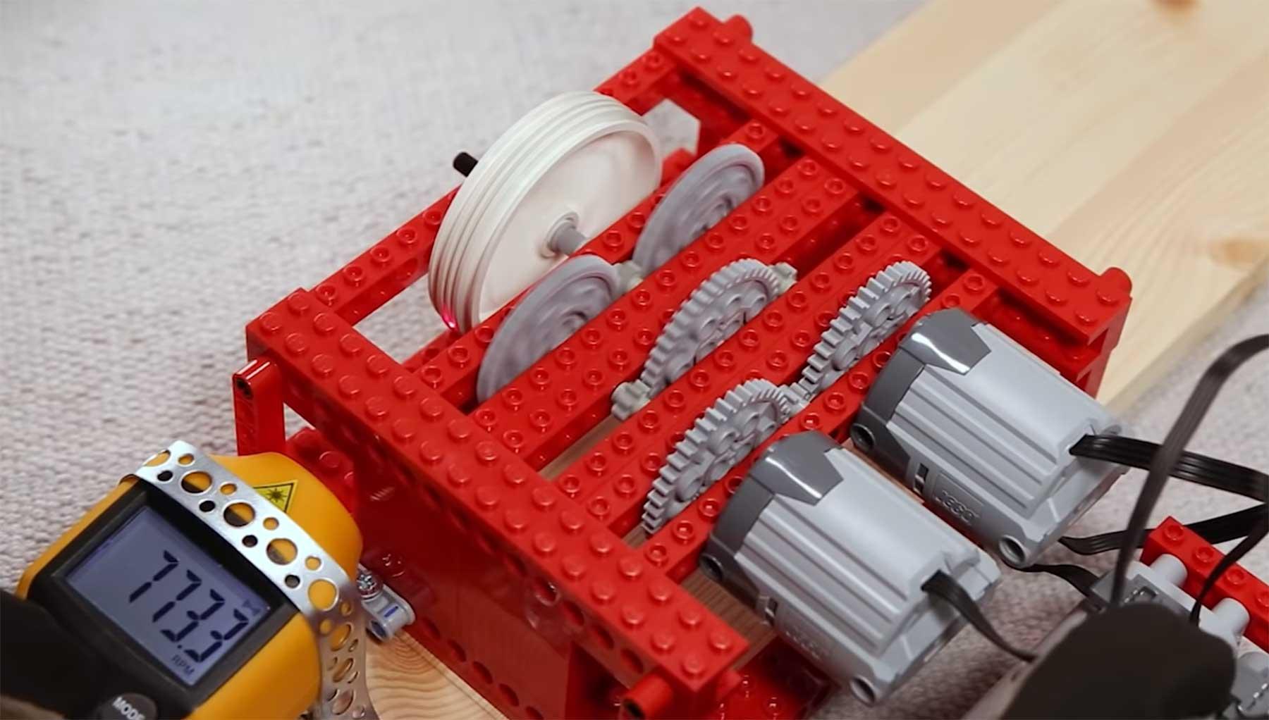 Wie schnell bekommt man eigentlich ein LEGO-Rad gedreht?
