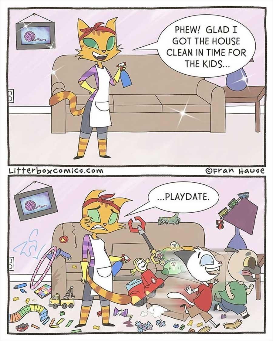 Lustige Webcomics über das Familienleben: Litterbox Comics litterbox-comics_09
