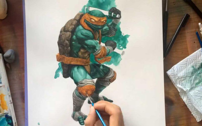 Speedpainting Michelangelo