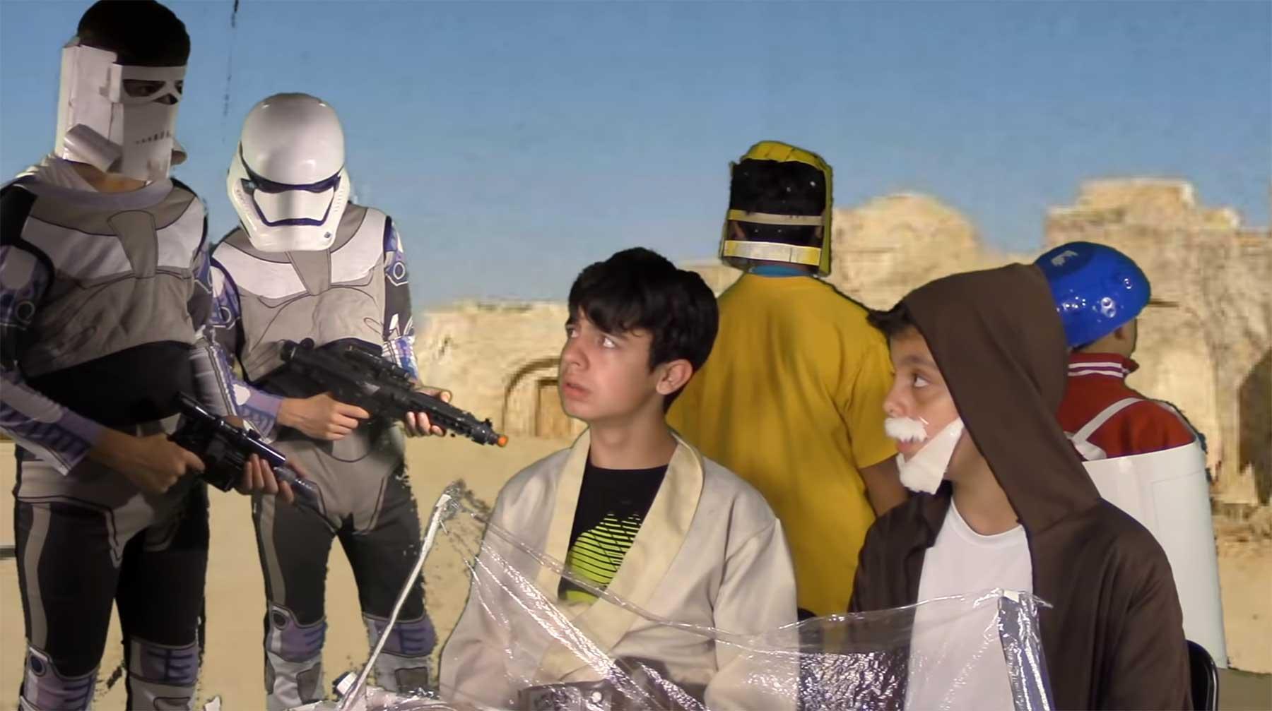 Kinder haben die komplette Episode IV von Star Wars nachgespielt
