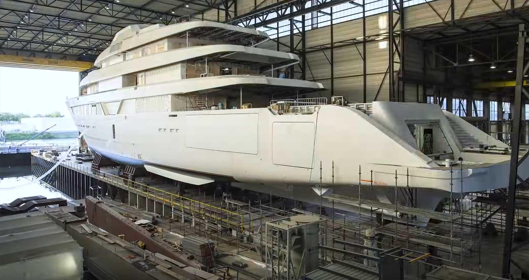 Der Bau einer 87 Meter-Luxus-Yacht im Zeitraffer yachtbau-timelapse-video