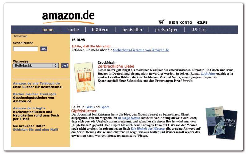 20 Jahre Amazon – das waren meine ersten Bestellungen