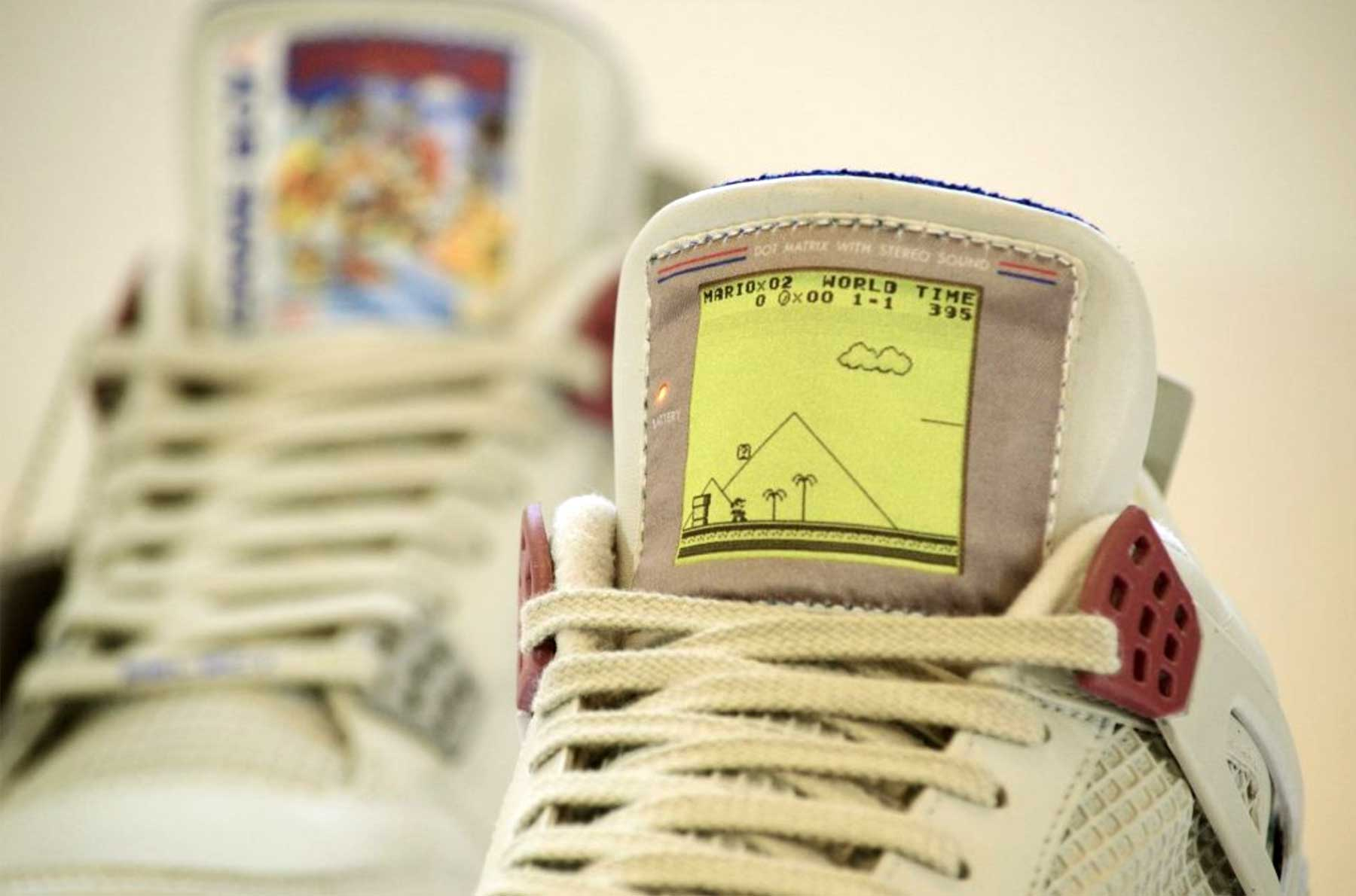 GAME BOY Sneakers GAME-BOY-Sneakers-Air-Jordan-IV-Super-Mario_04