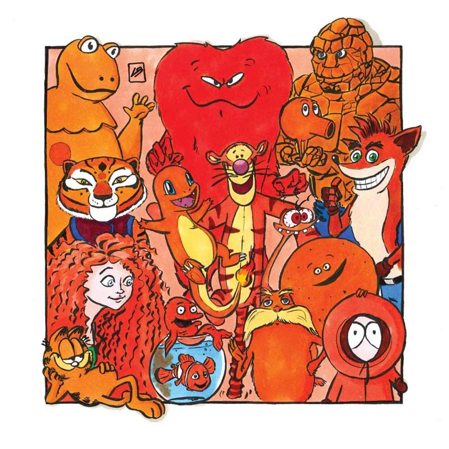 Nach Farben sortierte Popkulturfiguren Linda-Bouderbala-popkultur-nach-farben-sortiert_05