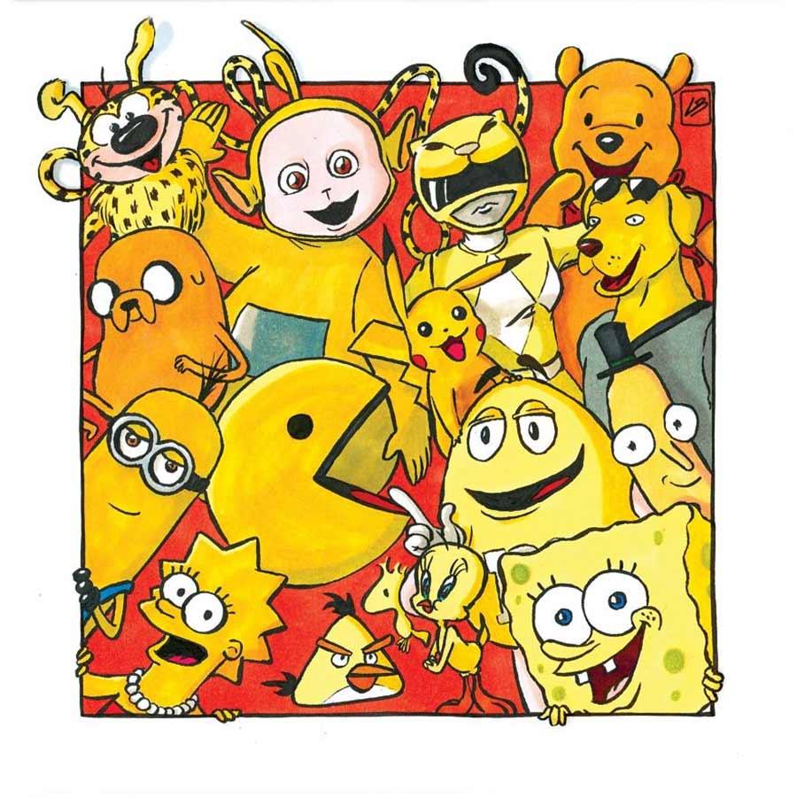 Nach Farben sortierte Popkulturfiguren Linda-Bouderbala-popkultur-nach-farben-sortiert_08