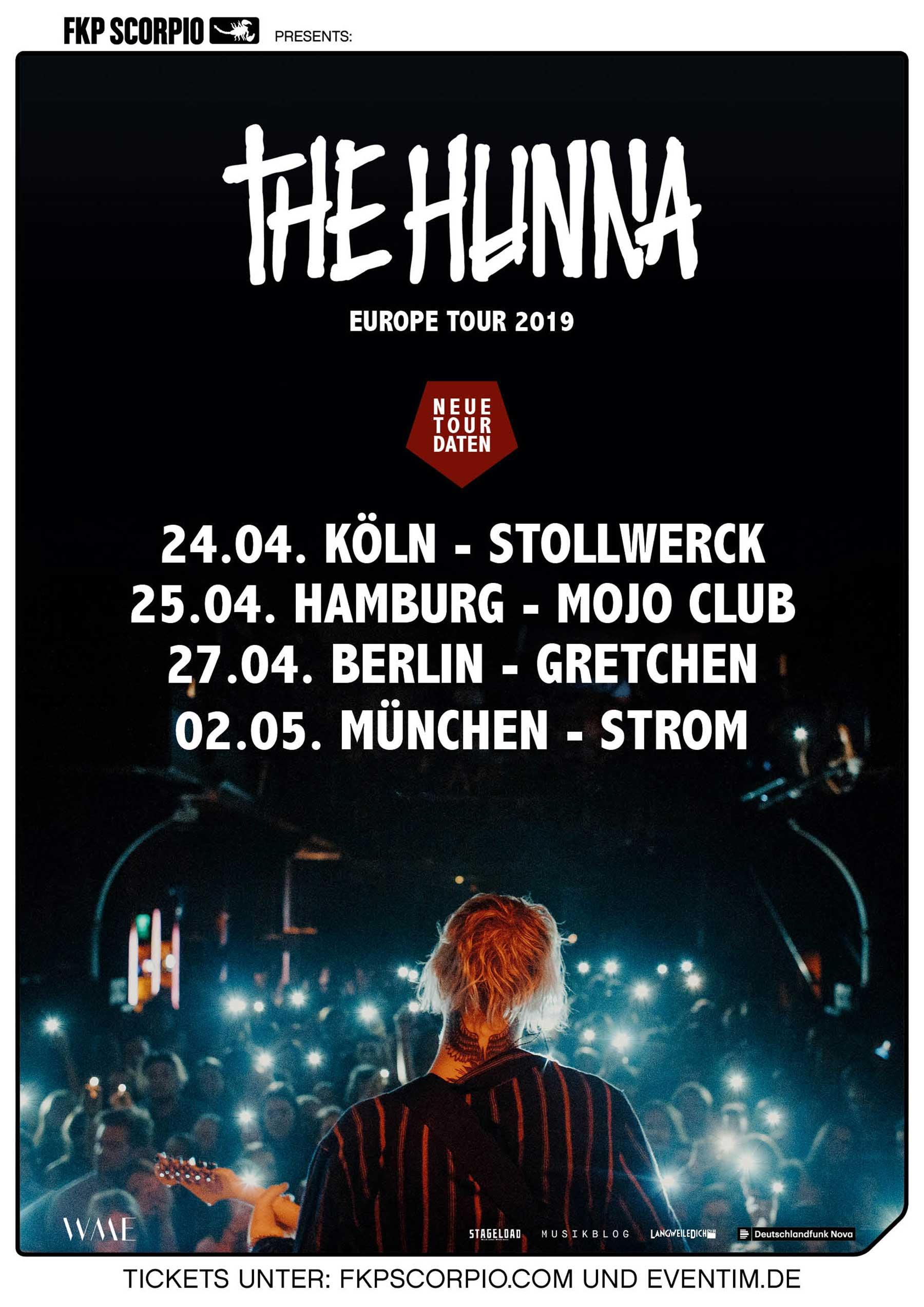 Tour von The Hunna auf 2019 verschoben The-Hunna-Tour-2019_poster